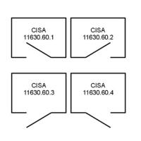 Замок накладной электромеханический Cisa 11.630.60.4 (левый, наружный)