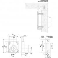 Мебельный замок 138 GP (автомат)