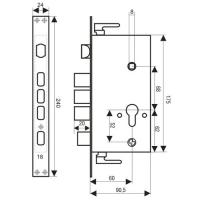 Замок врезной 2524-3Р-R (автомат)