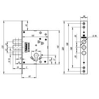 Замок врезной Fuaro V25/C-60.00.3R16