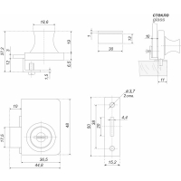 Мебельный замок Z258CP.2/18 BOYARD