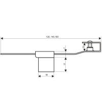 Мебельный замок Аллюр 602-А 140