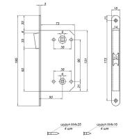 Защелка магнитная Apecs 5300-M-WC-AС (медь)