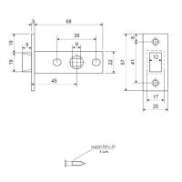 Защелка Apecs 5400-AB (бронза)