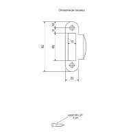 Защелка Apecs 5300-P-WC-AB (бронза)