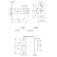 Защелка магнитная Apecs 5800-M-AB (бронза)