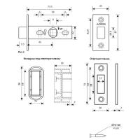 Защелка магнитная Apecs 5400-M-AB (бронза)
