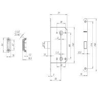 Защелка магнитная Fuaro M96-WC-50 SN (мат. никель) new plate