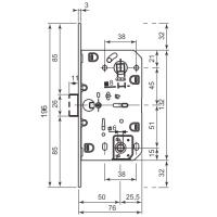 Защелка магнитная AGB B06102.50.06.567 WC (никель)