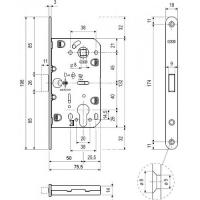 Замок магнитный AGB B06103.50.06.567 (никель)