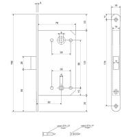 Защелка магнитная Avers 5300-MC-WC-AB (бронза)